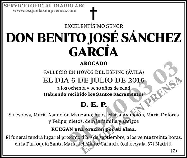 Benito José Sánchez García
